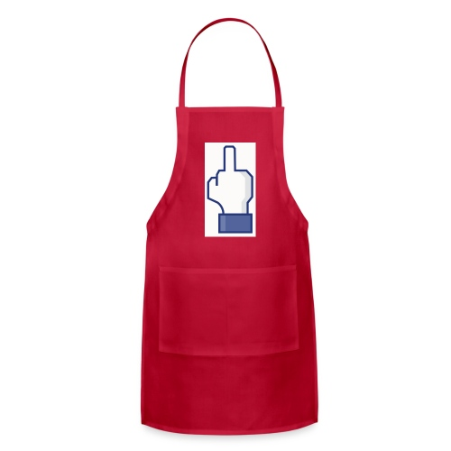 facebook middle finger di - Adjustable Apron