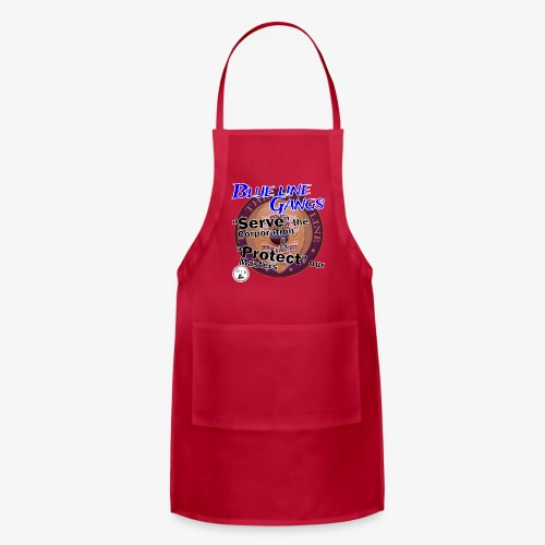 Thin Blue Line - To Serve and Protect - Adjustable Apron