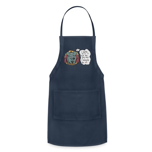 Elephant sitting on a couch - Adjustable Apron