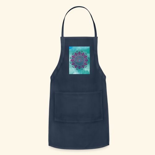 Vinatge Mandala Watercolor - Adjustable Apron