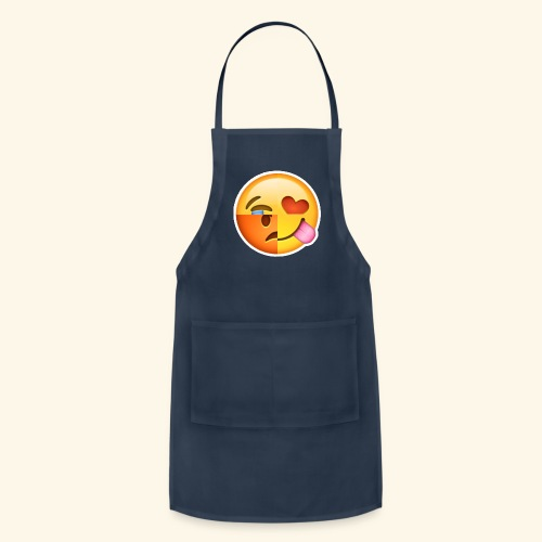 E Tees , Unique , Love , Cry, angry - Adjustable Apron