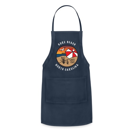 Kure Beach Sunrise-White Lettering-Front Only - Adjustable Apron
