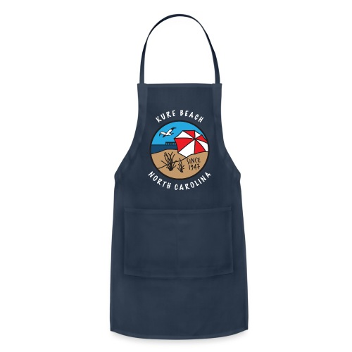 Kure Beach Day-White Lettering-Front Only - Adjustable Apron