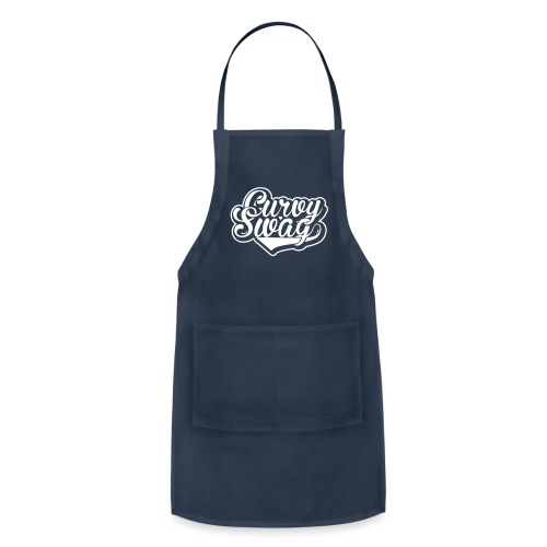 Curvy Swag Reversed Out Design - Adjustable Apron