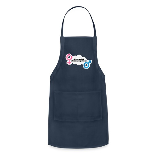 All men are pigs! Feminism Quotes - Adjustable Apron