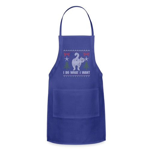 Ugly Christmas Sweater I Do What I Want Cat - Adjustable Apron