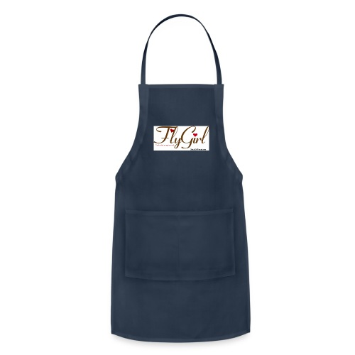 FlyGirlTextGray jpg - Adjustable Apron