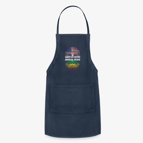 American Grown With African Roots T-Shirt - Adjustable Apron