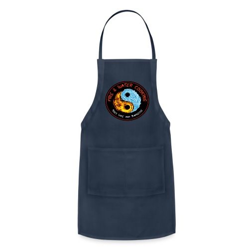Fire & Water Cooking Full Sized Logo - Adjustable Apron