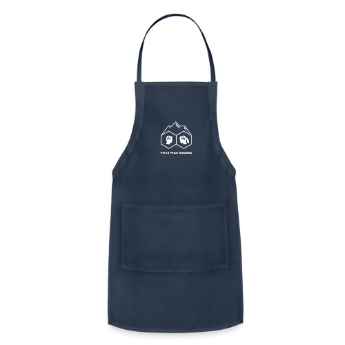 Pikes Peak Gamers Logo (Transparent White) - Adjustable Apron