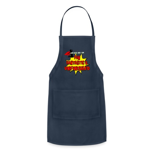 Fun Fantastic and UNFINISHED - Back to School - Adjustable Apron