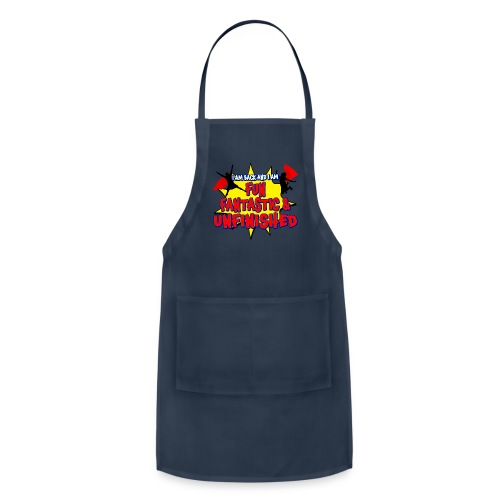 Unfinished girls jumping - Adjustable Apron