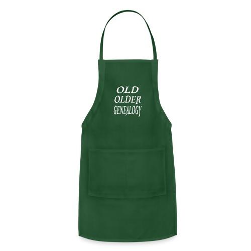 Old older genealogy family tree funny gift - Adjustable Apron