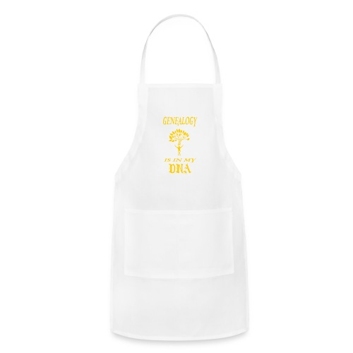 genealogy is in my dna funny birthday gift yellow - Adjustable Apron