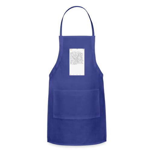 Text from a Football Commit - Adjustable Apron