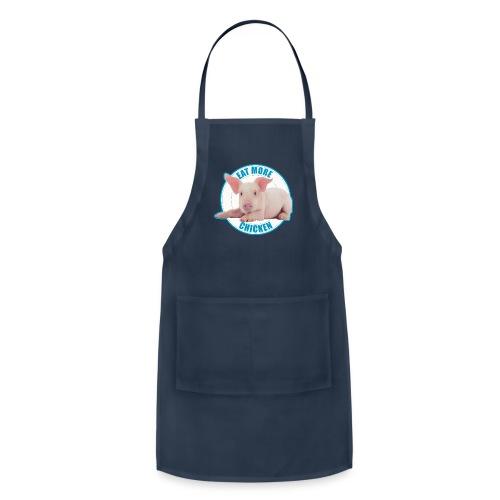 Eat more chicken - Sweet piglet print - Adjustable Apron