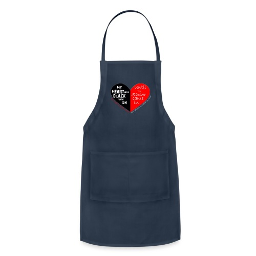 My heart was black with sin - Adjustable Apron