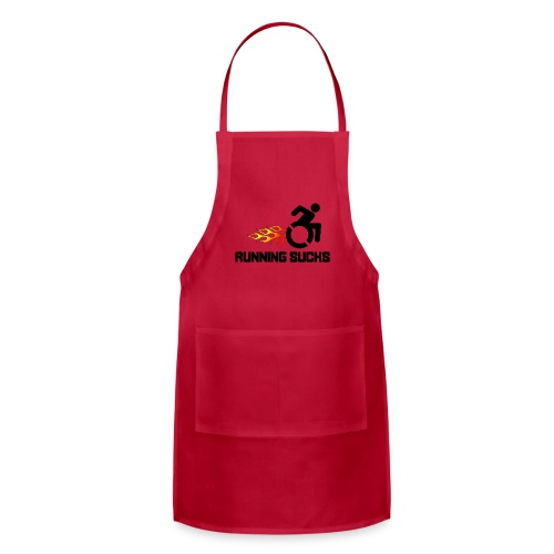Wheelchair users hate running they think it sucks - Adjustable Apron