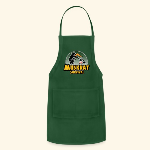 Muskrat round logo - Adjustable Apron