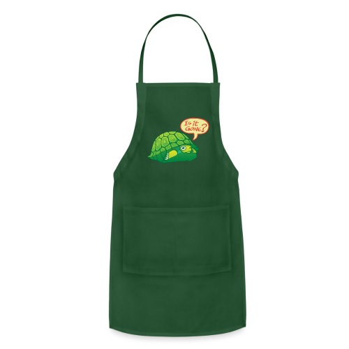 Turtle asking if it's good time to go out of shell - Adjustable Apron
