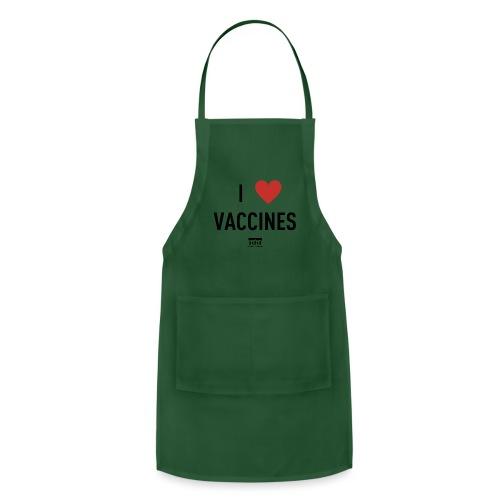 I heart vaccines black Immunize Colorado Logo - Adjustable Apron