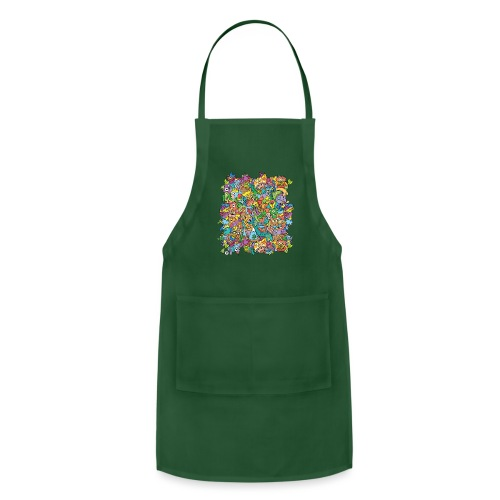 Crazy carnival full of color and cool characters - Adjustable Apron