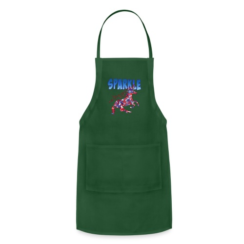 Sparkle Red, White and Blue Unicorn - Adjustable Apron