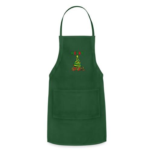 merry christmas tree instruments - Adjustable Apron