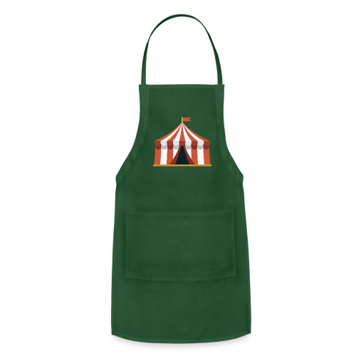 Striped Circus Tent - Adjustable Apron