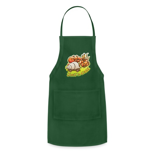 Hermit crab goes out but takes shell, just in case - Adjustable Apron