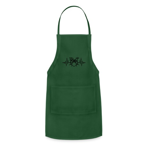 Drums Heartbeat Funny drummer - Adjustable Apron