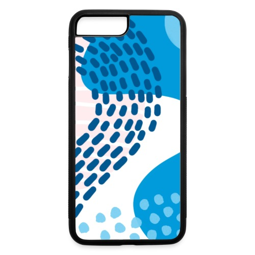 Pink & Blue Abstract - iPhone 7 Plus/8 Plus Rubber Case