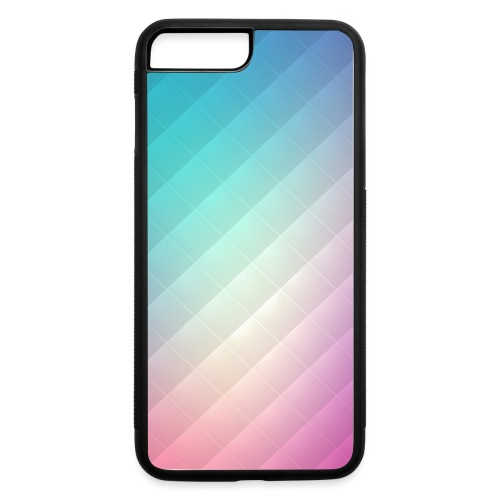 Abstract Rainbow Pattern Case - iPhone 7 Plus/8 Plus Rubber Case