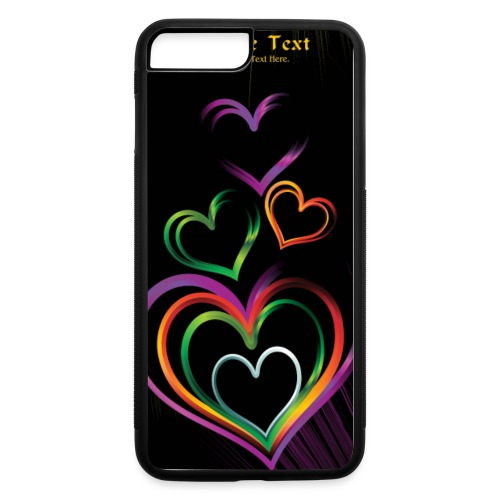 background with glossy rainbow heart f1csd65u L - iPhone 7 Plus/8 Plus Rubber Case