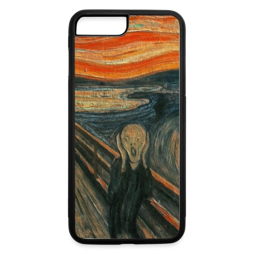 The Scream (Textured) by Edvard Munch - iPhone 7 Plus/8 Plus Rubber Case