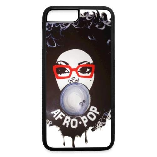 Afro pop_Global Couture Long Sleeve Shirts - iPhone 7 Plus/8 Plus Rubber Case