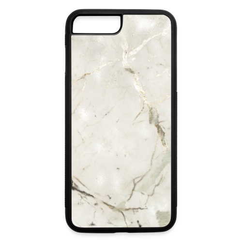 Soft Sage Green White Gold Marble - iPhone 7 Plus/8 Plus Rubber Case
