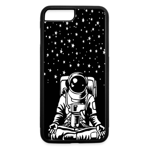 Astronaut in the lotus position, symbol of meditat - iPhone 7 Plus/8 Plus Rubber Case