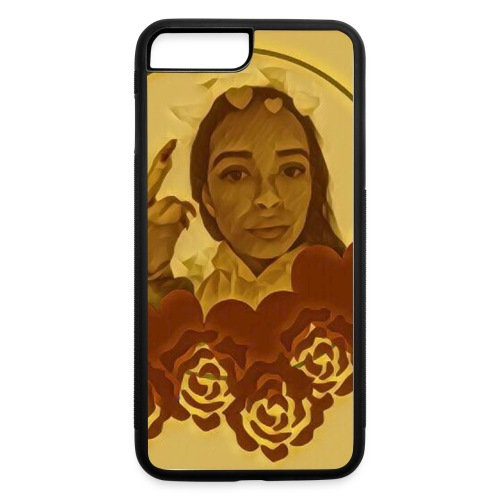 Phone Case- Gold Middle Finger - iPhone 7 Plus/8 Plus Rubber Case