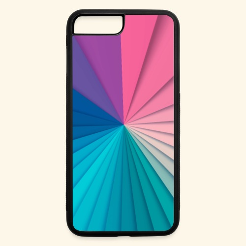 Simple and Elegant Ray of Colors - iPhone 7 Plus/8 Plus Rubber Case