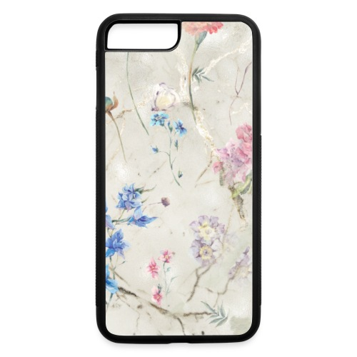 Sage Green Gold Marble Floral Flowers - iPhone 7 Plus/8 Plus Rubber Case
