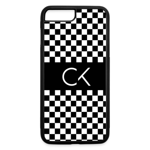 Conor Keating Case (Black Checkerboard) - iPhone 7 Plus/8 Plus Rubber Case
