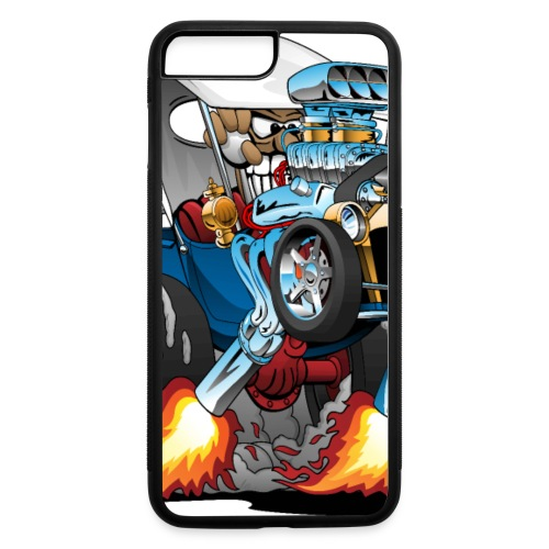 Custom T-bucket Roadster Hotrod Cartoon - iPhone 7 Plus/8 Plus Rubber Case