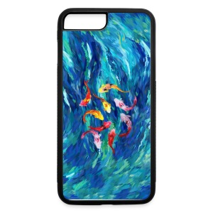 koi fish rainbow abstract paintings case - iPhone 7 Plus/8 Plus Rubber Case