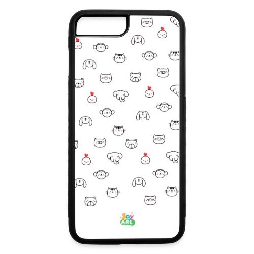 SayABC Animal Friends Phone Case - iPhone 7 Plus/8 Plus Rubber Case