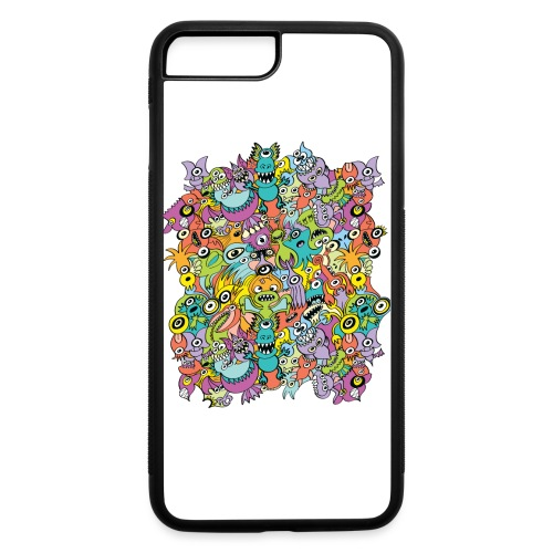 Aliens of the universe posing in a pattern design - iPhone 7 Plus/8 Plus Rubber Case
