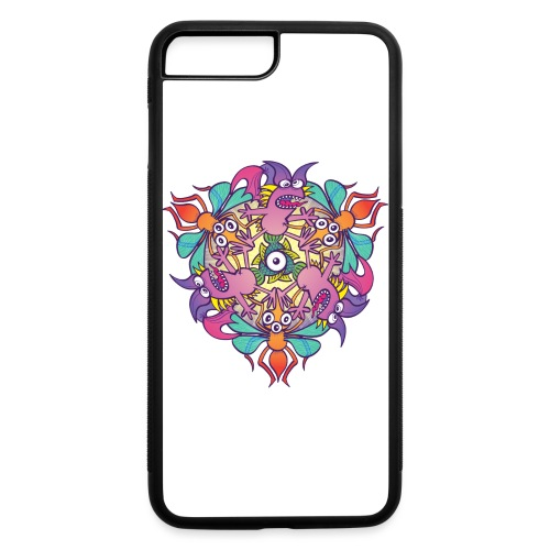 Mosquitoes, bats and fishes in doodle art style - iPhone 7 Plus/8 Plus Rubber Case