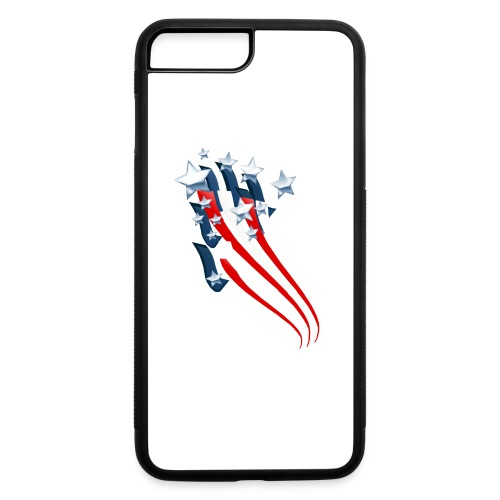Sweeping American Flag - iPhone 7 Plus/8 Plus Rubber Case