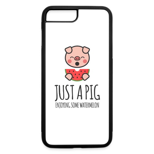 Just A Pig Enjoying Some Watermelon - iPhone 7 Plus/8 Plus Rubber Case