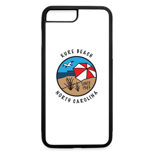 Kure Beach Day-Black Lettering-Front Only - iPhone 7 Plus/8 Plus Rubber Case